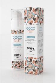 Huile de massage chauffante Noix de coco Exsens