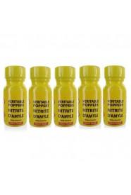 lot de 5 Poppers véritable au nitrite d'amyle - 13 ml