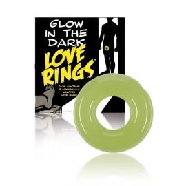 Cockring LOVE RINGS GLOW IN THE DARK