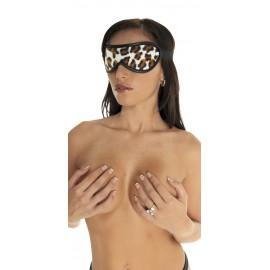Masque occultant Rimba leopard cuir