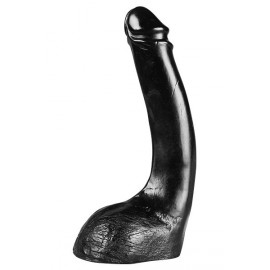 Gros Godemiché XXL ALL BLACK Curved 31.5 cm