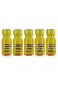 lot de 5 Poppers véritable au nitrite d'amyle - 13 ml