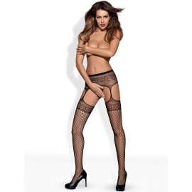 S502 GARTER STOCKINGS NOIR