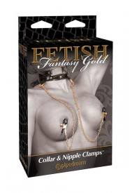 FANTASY GOLD COLLAR NIPPLE CLAMP