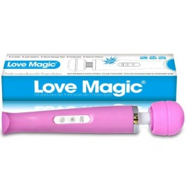 Vibromasseur Electrique Love Magic Wand rose - 18 vitesses