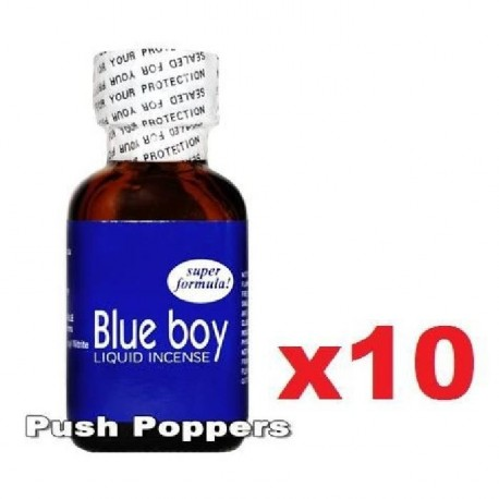 Lot de 10 poppers Blue Boy en 24 mL