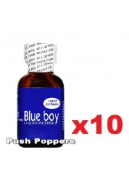Lot de 10 poppers Blue Boy en 24 mL