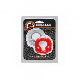 Pack Cockrings Ultraballs Oxballs Gris - Rouge